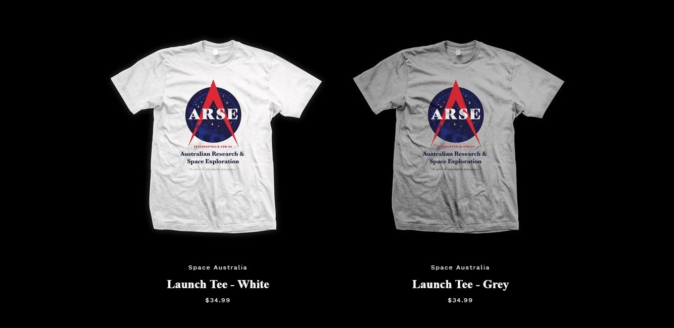 ARSE t-shirts on sale