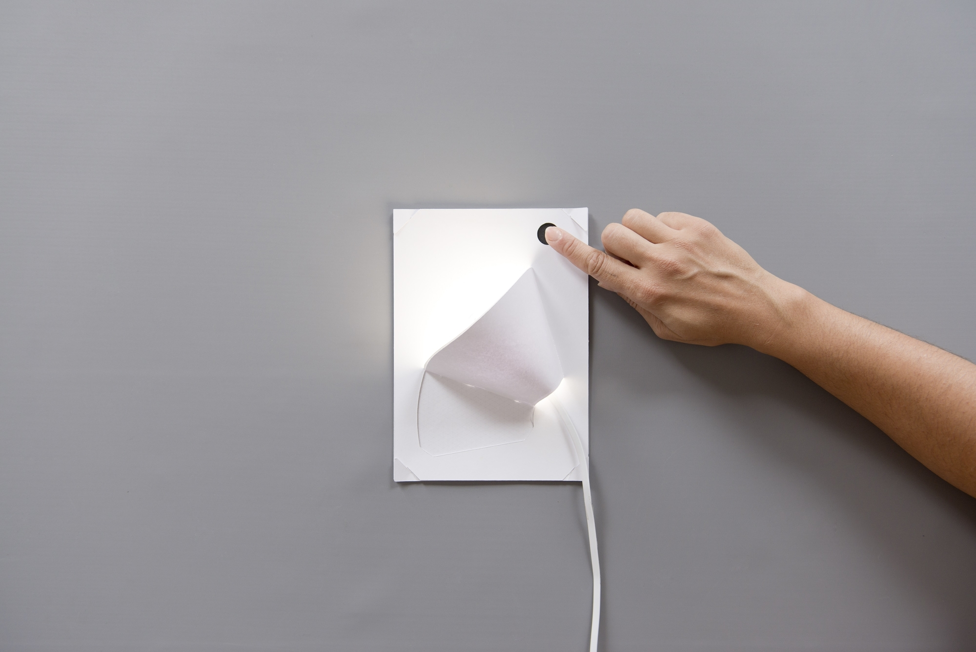 A lamp shade made by Bare Conductive