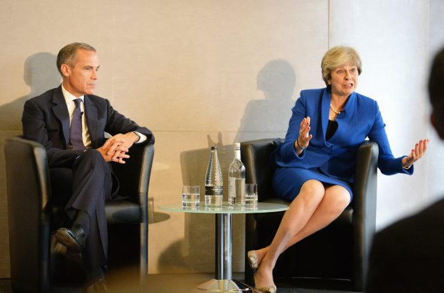Mark Carney and Theresa May