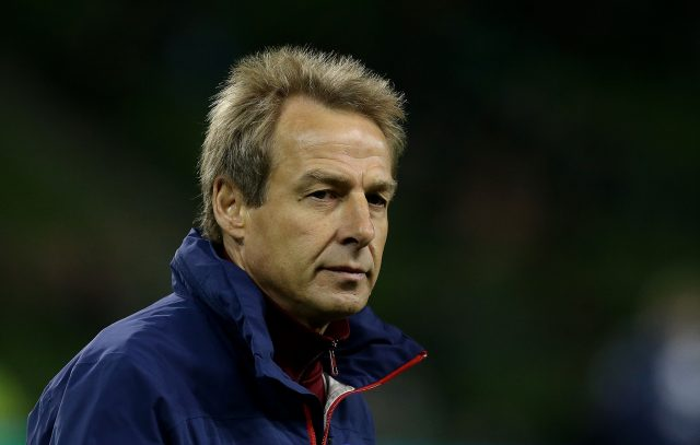 Jurgen Klinsmann left the USA job in 2016