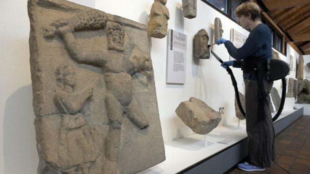 Artefacts from 2,000 years ago are on display in the Roman town of Corbridge