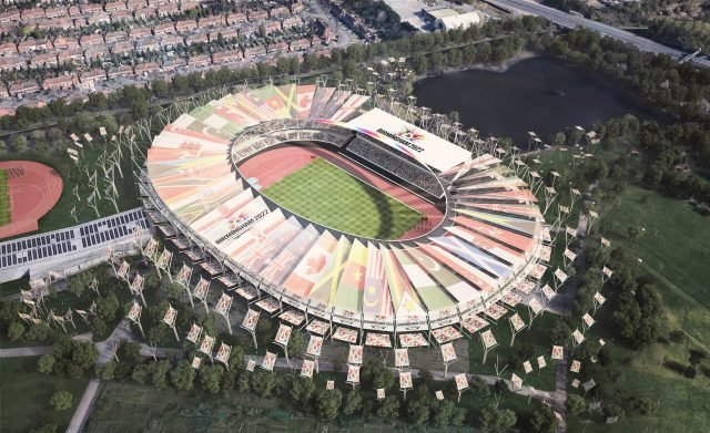 How Alexander Stadium would look in time for the 2022 Games (Birmingham City Council/PA)