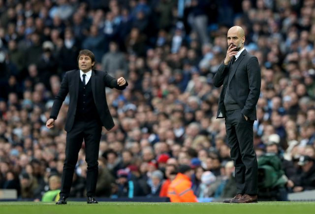 Antonio Conte and Pep Guardiola (Martin Rickett/PA)