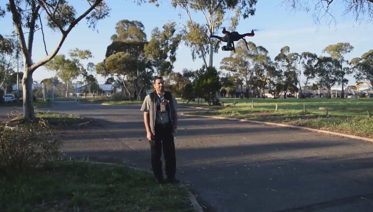 Vital stats are read by a drone three metres away from a patient ((University of South Australia)