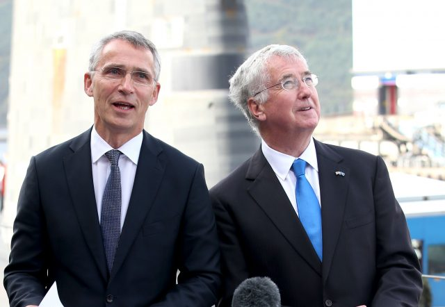 Jens Stollenberg and Sir Michael Fallon