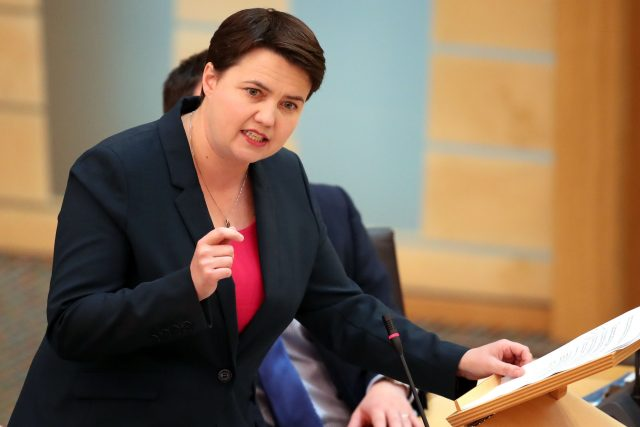 Scottish Conservative party leader Ruth Davidson. (Jane Barlow/PA)