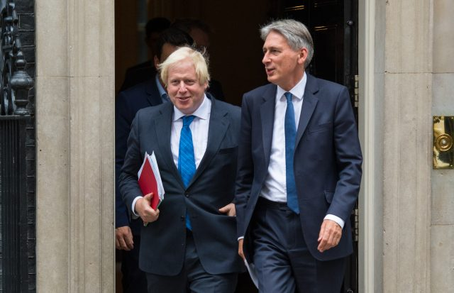 Foreign Secretary Boris Johnson (left) and Chancellor Philip Hammond