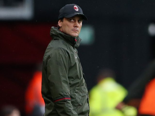 AC Milan head coach Vincenzo Montella