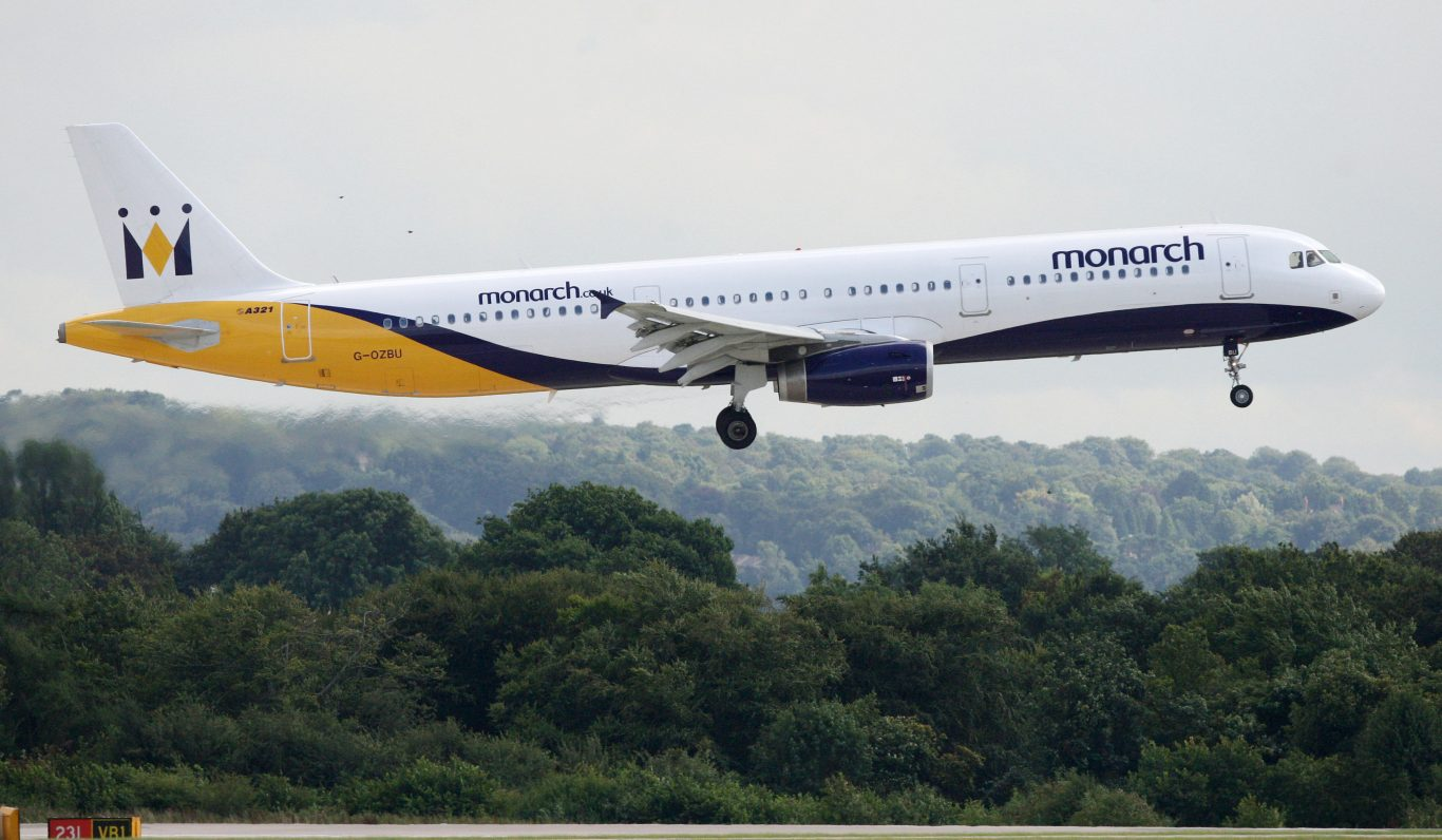 An operation to return 110,000 Monarch Airlines customers is under way after the airline collapsed into administration (Dave Thompson/PA)