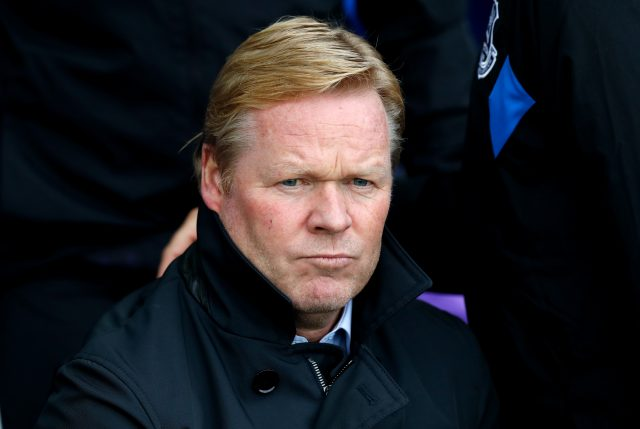 Ronald Koeman appears to be on borrowed time (Martin Rickett/PA)