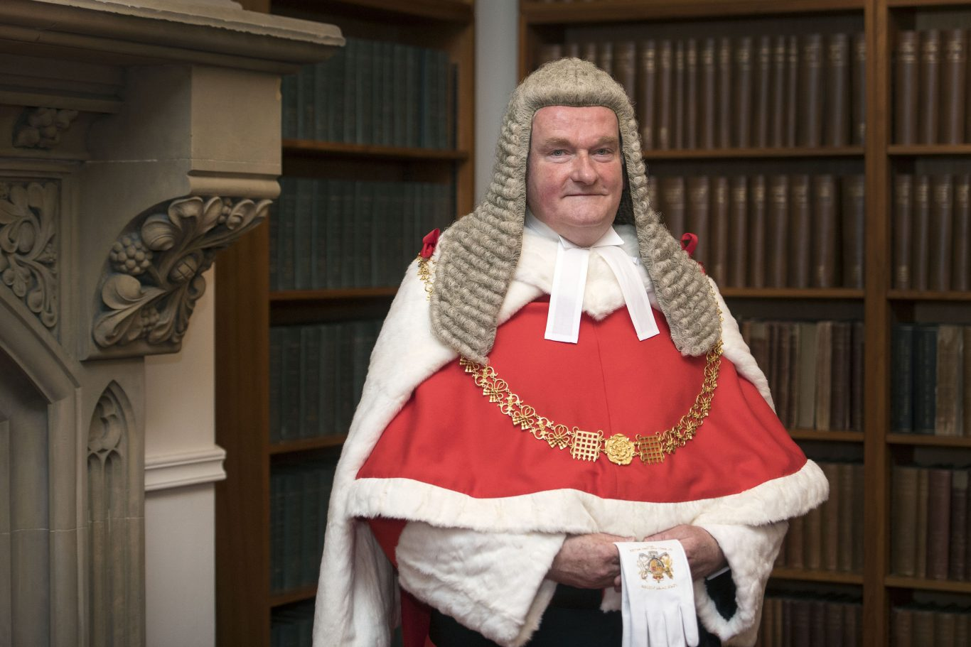 The new Lord Chief Justice, Sir Ian Burnett, at the Royal Courts of Justice in central London before his swearing-in ceremony (Victoria Jones/PA)