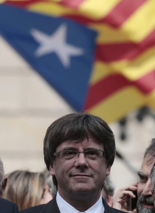 Catalan President Carles Puigdemont (Manu Fernandez/PA)