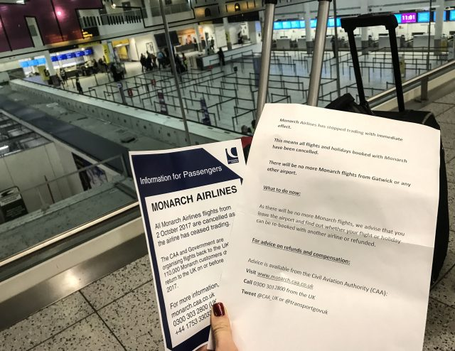 Notices at Gatwick Airport