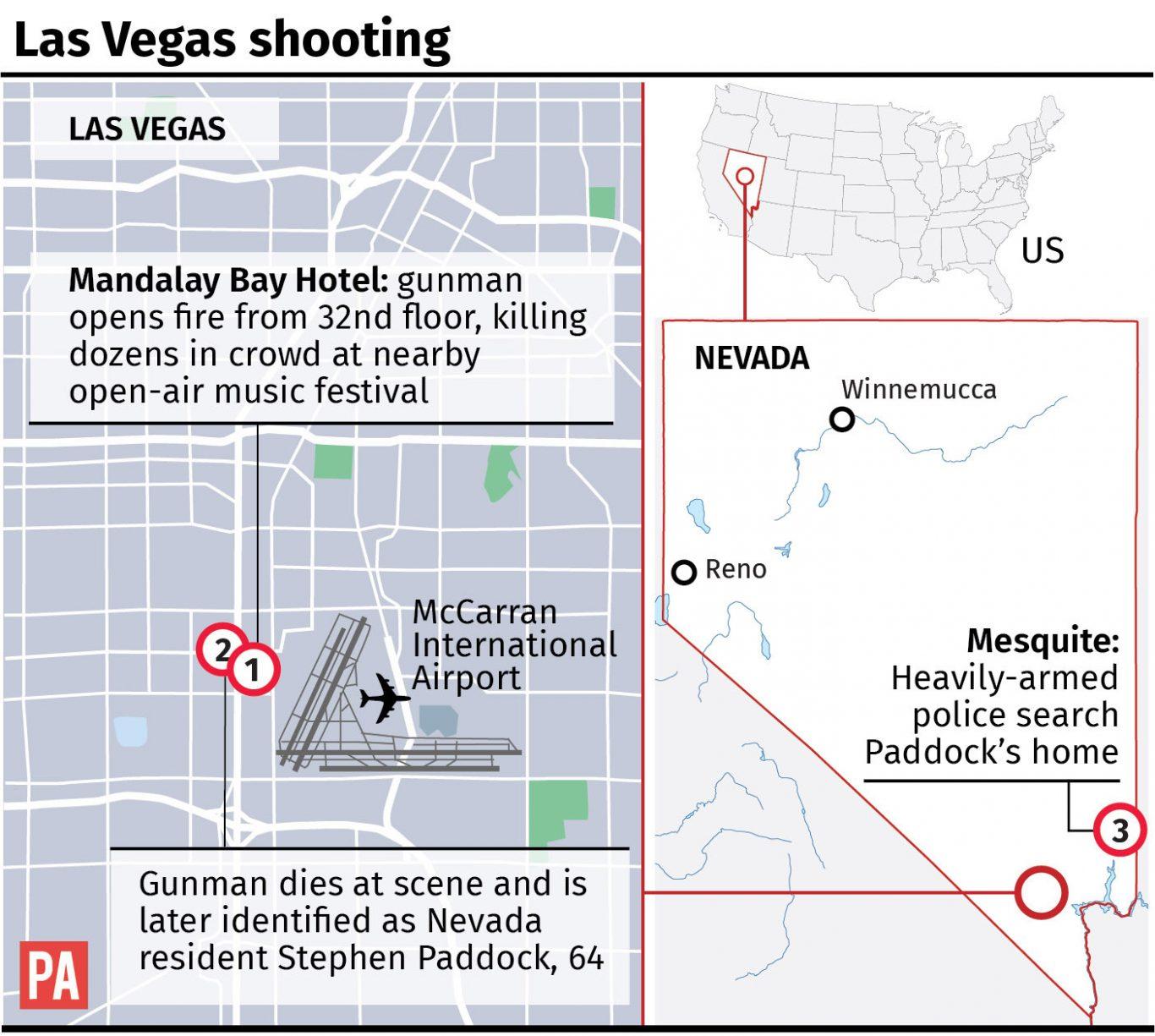 Vegas Gunman Took 23 Guns To His Room Before Killing 59
