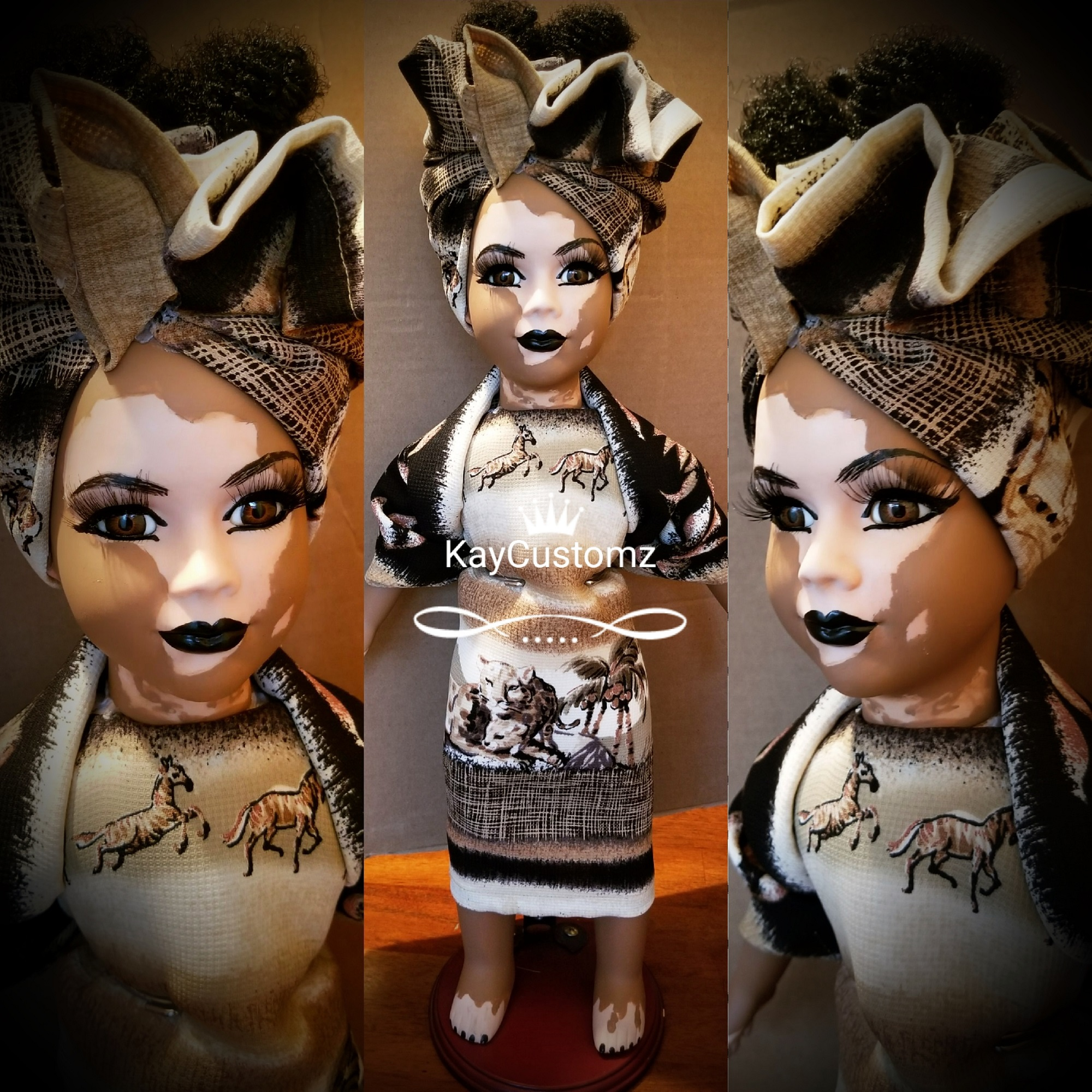 Dolls with vitiligo