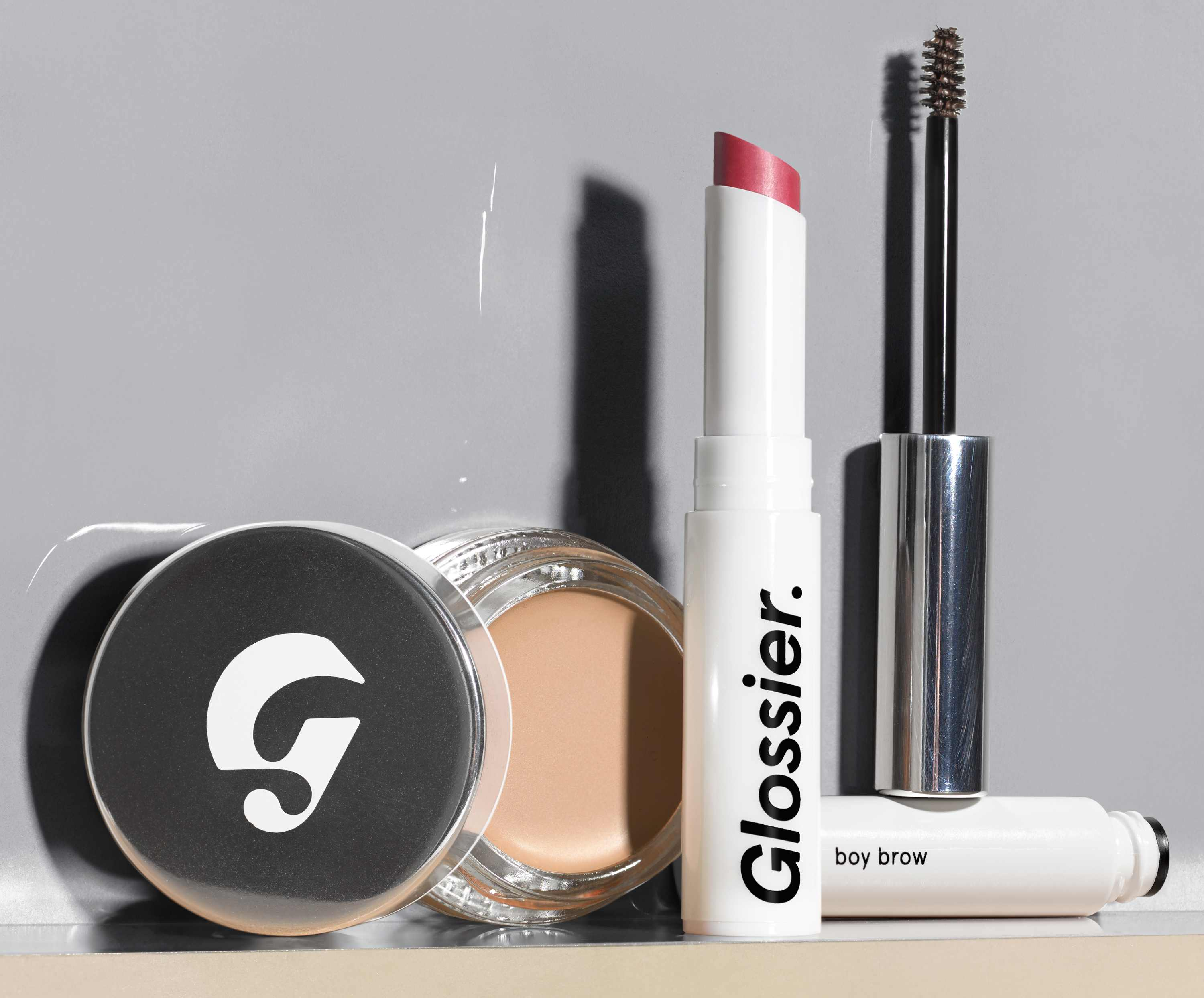 Four make-up products from Glossier