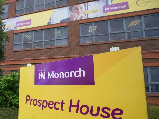 The headquarters of Monarch at Luton Airport after the airline collapsed into administration (Steve Parsons/PA)