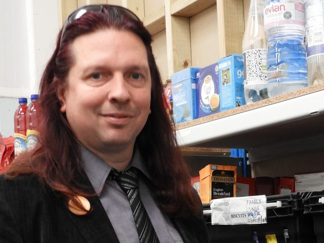 Colchester Foodbank interim manager Michael Beckett (Colchester Foodbank/PA)