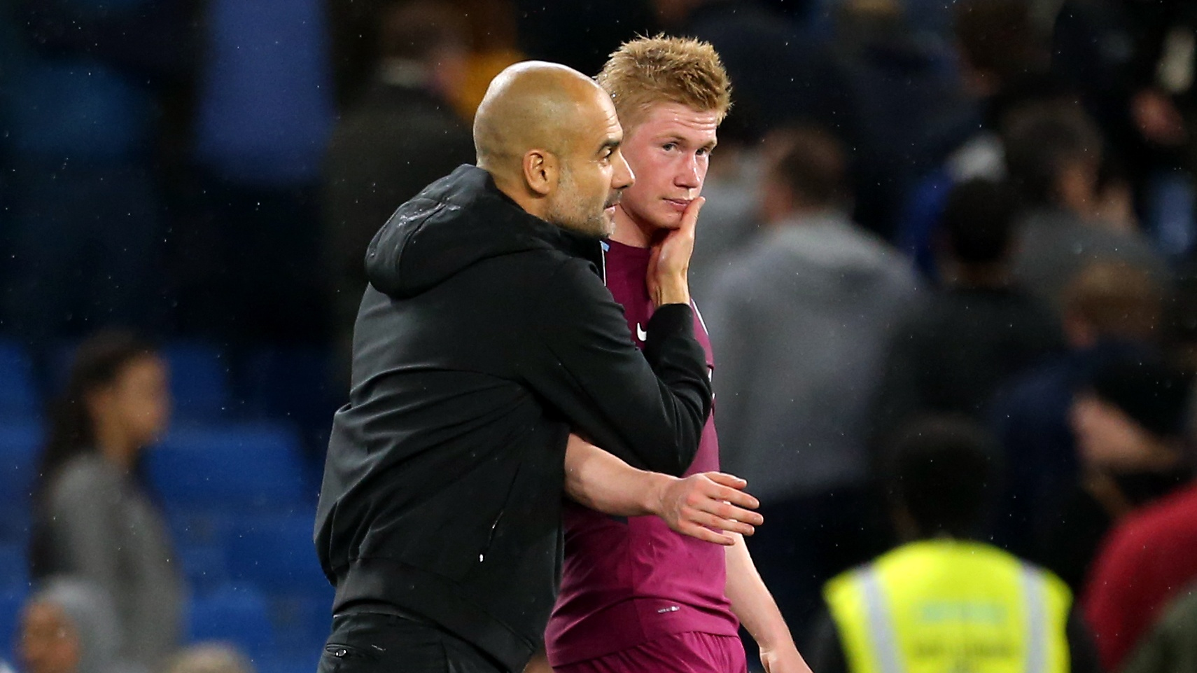 Pep Guardiola and Manchester City midfielder Kevin De Bruyne