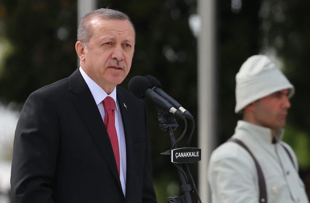 Recep Tayyip Erdogan (Niall Carson/PA)