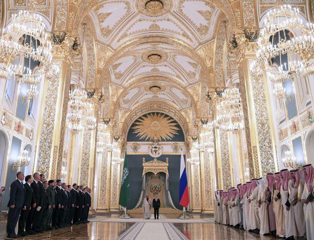 Kimg Salman and Vladimir Putin