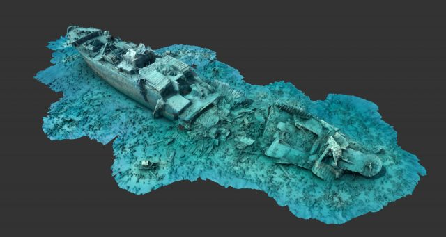 A 3D survey of the SS Thistlegorm (University of Nottingham/PA)