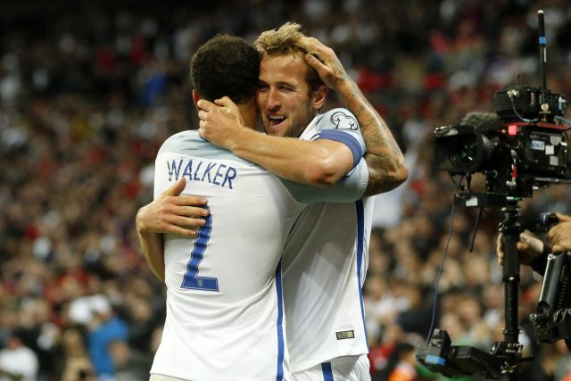 Kyle Walker and Harry Kane combined for the winning goal