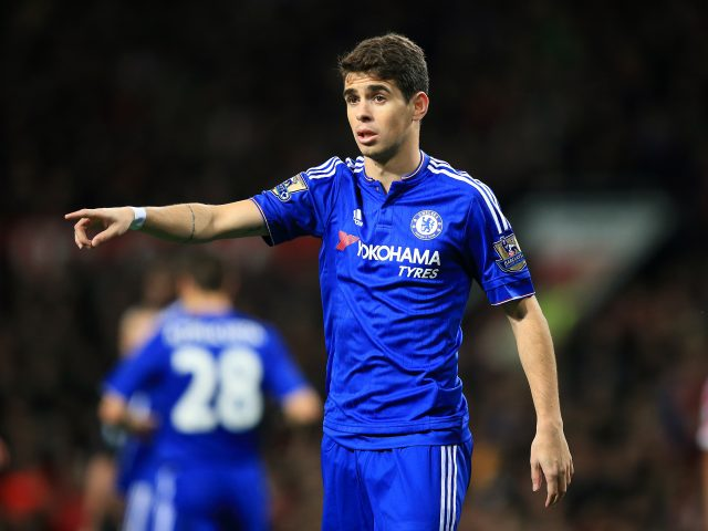 Oscar in action for Chelsea