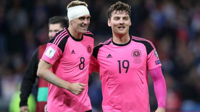 Scotland skipper Darren Fletcher finished the Slovakia game with his head bandaged