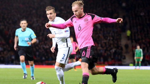 Midfielder Barry Bannan had a quiet game against Slovakia