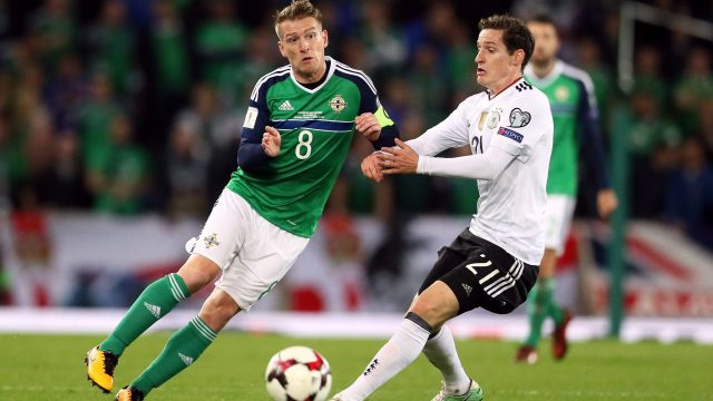 Skipper Steven Davis is one of six Northern Ireland players who are one yellow card away from suspension
