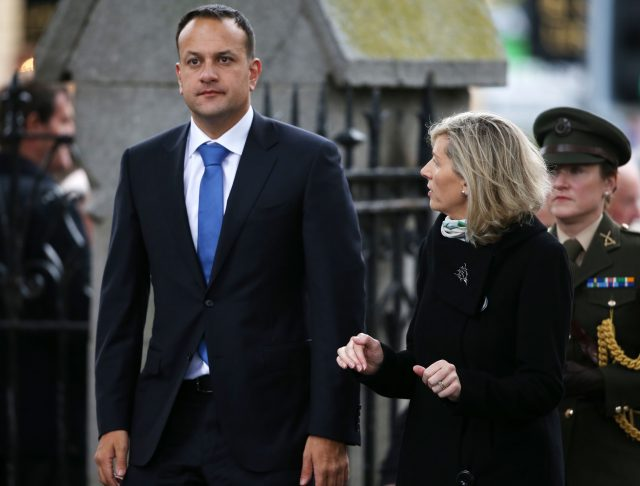 Taoiseach Leo Varadkar arrives for the funeral of Liam Cosgrave