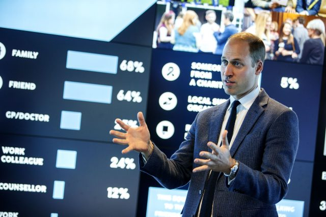 The Duke of Cambridge, speaks during a visit to Imperial College London's Data Observatory