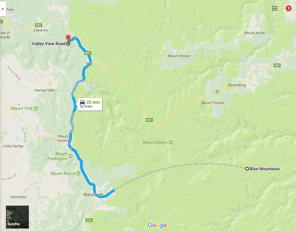Blue Mountains route