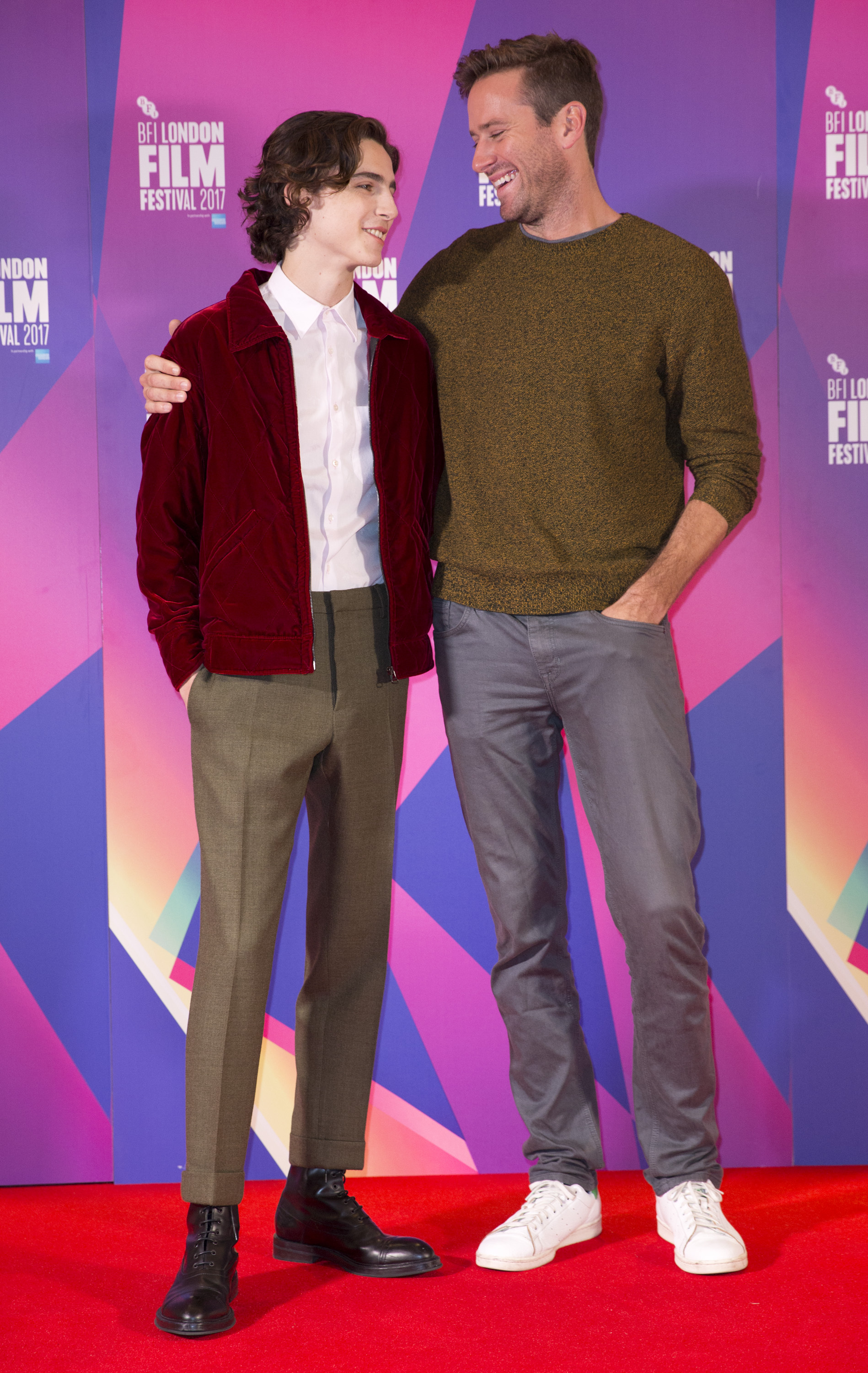 Timothee Chalamet (left) and Armie Hammer