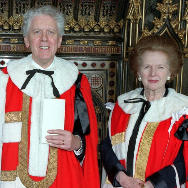 Lord Powell with Baroness Thatcher