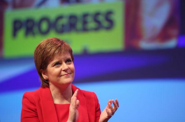 Nicola Sturgeon applauds