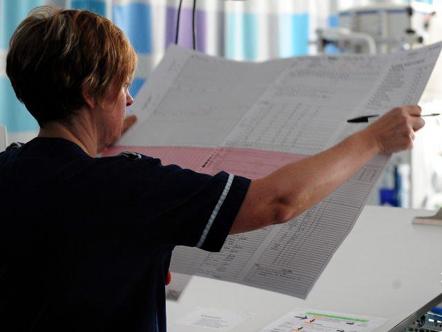 A nurse on a ward at Queen Elizabeth Hospital, Birmingham