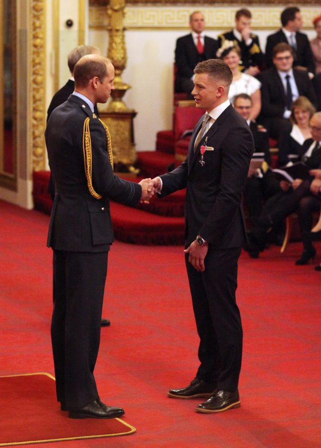 Meeting the Duke of Cambridge. (Jonathan Brady/PA)