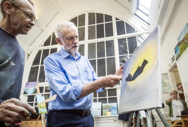Chris Ellerton and Jeremy Corbyn