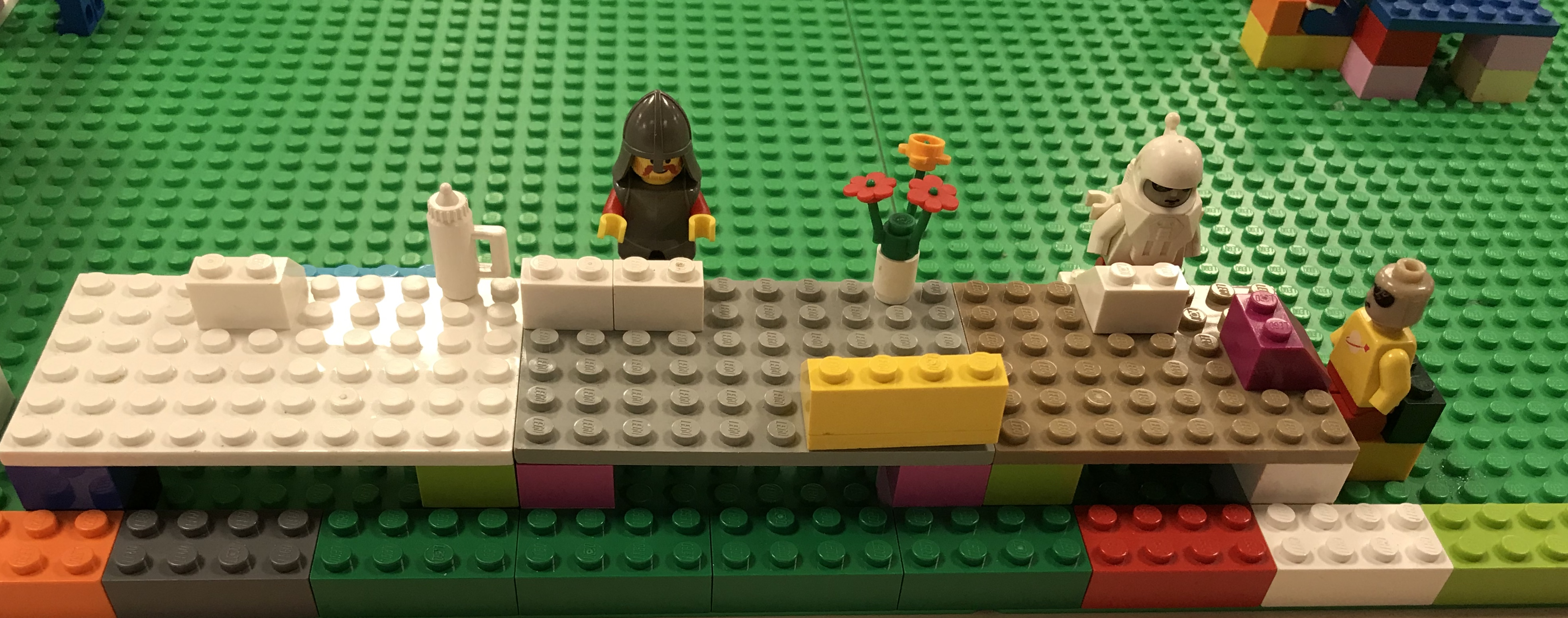 Computer terminals in the Lego library (Halton Libraries)