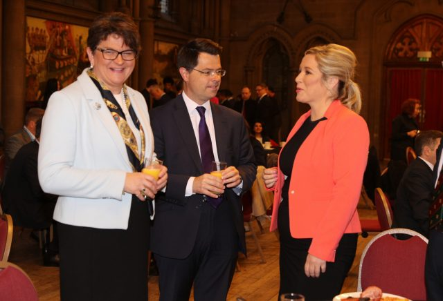 Arlene Foster, James Brokenshire and Michelle O'Neill