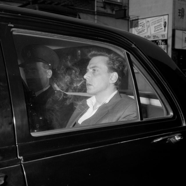 Moors Murderer Ian Brady, while in police custody prior to a court appearance