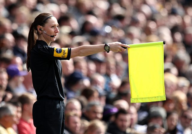 Sian Massey-Ellis officiates in the Premier League