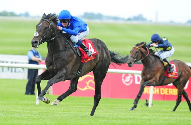 Jack Hobbs wins the Irish Derby at the Curragh