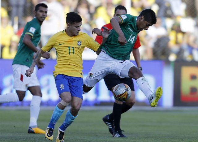 Philippe Coutinho played twice for Brazil last week
