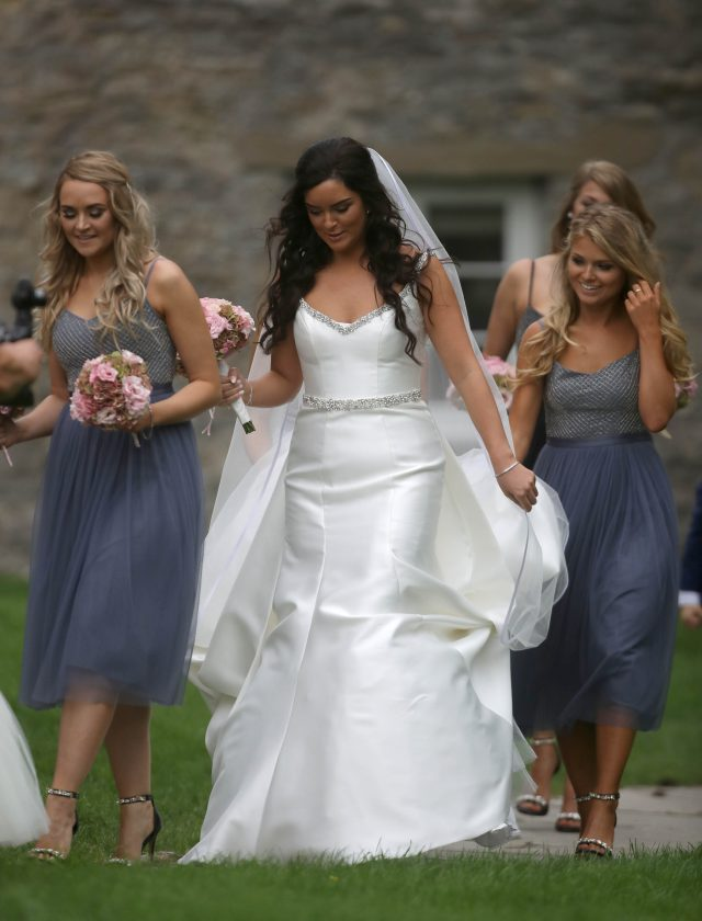 The bride-to-be. (Steve Parsons/PA)