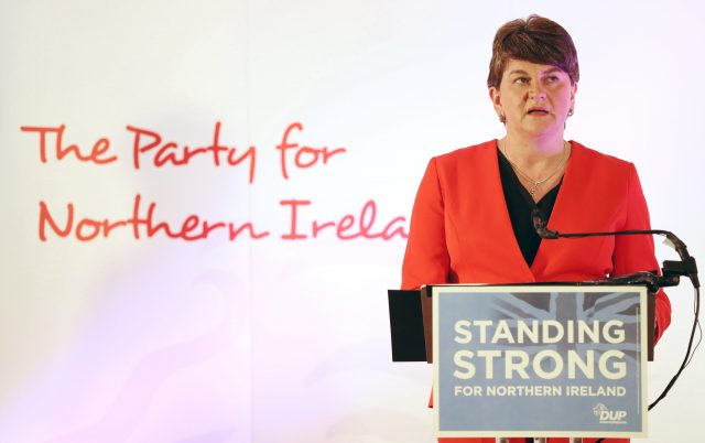 DUP leader Arlene Foster. (Brian Lawless/PA)