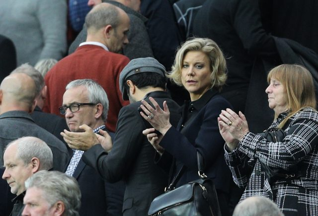 Amanda Staveley watched Newcastle's draw with Liverpool