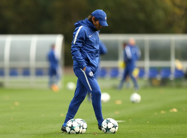 Antonio Conte during a training session